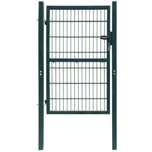 Dealpark Portillon de Jardin, Patio portillon Cloture Exterieur Portail Porte Simple en Acier Vert 106 x 250 cm