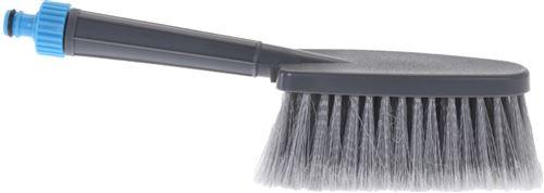 Pro Garden brosse à laver 31,5 x 6,5 cm en polypropylène gris/bleu
