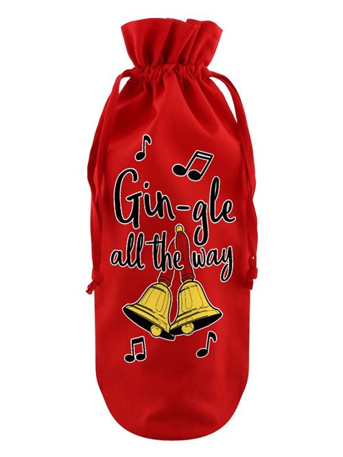 Sac de bouteille Gin-gle All The Way rouge