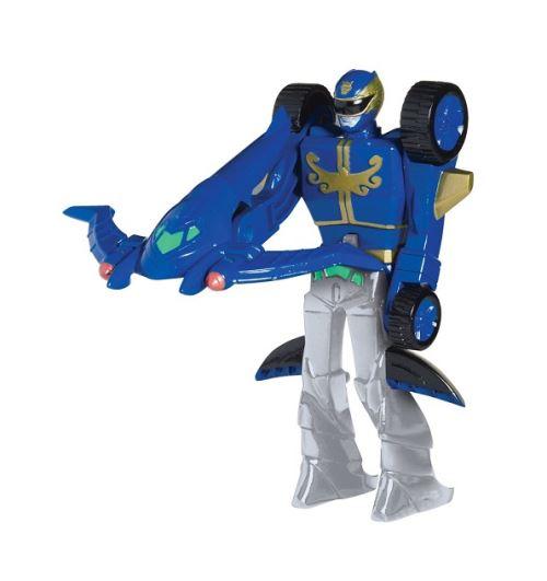 Power rangers megaforce bleu trans-véhicule - 12 cm - figurine - bandai