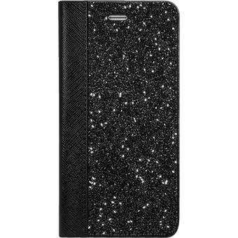 P Coque Clapet Bling Stra pour Apple iPhone 6 Plus 6s Plus Minuit Noir