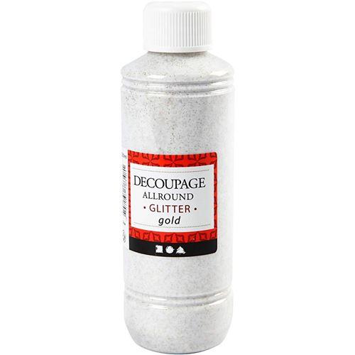 Creotime colle de découpage laque pailletée or 250 ml
