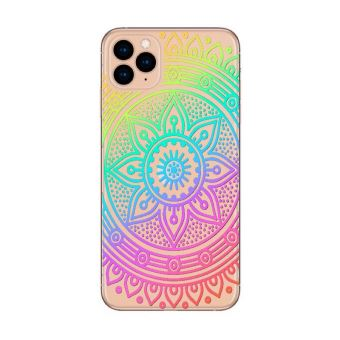 Coque Iphone 11 PRO mandala arc en ciel multicolor