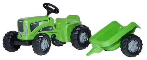 Rolly Toys Tracteur à pédales RollyKiddy Futura vert