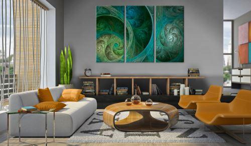 60x40 Tableau Abstraction Magnifique Orient, source d'inspiration