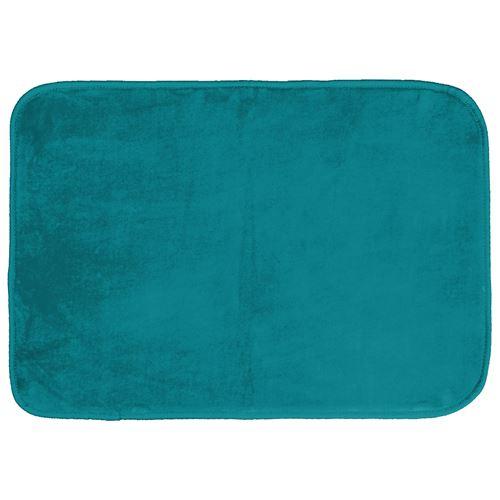 Tapis rectangle 120 x 170 cm velours uni louna Bleu lagon