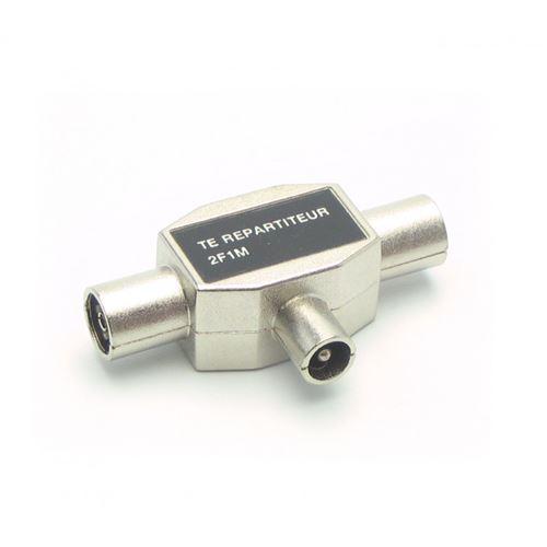 Répartiteur d'antenne TV METRONIC 436201 2 voies en T