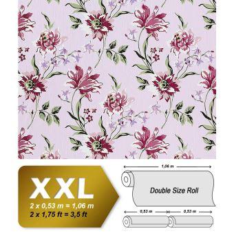 Papier Peint Intisse De Luxe Motif Floral En Relief Edem 900 17