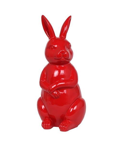 Statue en résine Lapin rouge - 53 cm