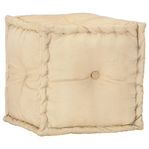 Pouf Sable 40 x 40 x 40 cm Toile de coton