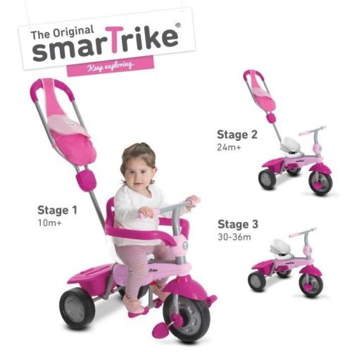 Smart trike tricycle breeze gl 3 en 1 - rose smartrike