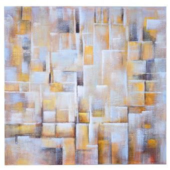 Tableau Peinture à Huile Cubique, Peint à La Main à 100%, Toile De Décoration  Murale XL ~ 100x100cm   Achat U0026 Prix | Fnac