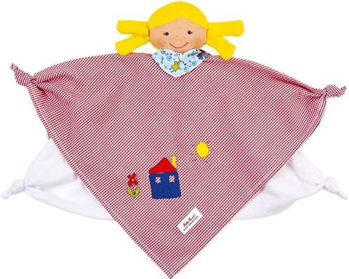 Käthe Kruse couverture câline poupée fille rouge/jaune 27 cm