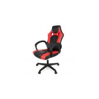 Chaise de Gamer Ergonomique Fauteuil de Bureau Siège Baquet Gaming (Noir et Rouge)