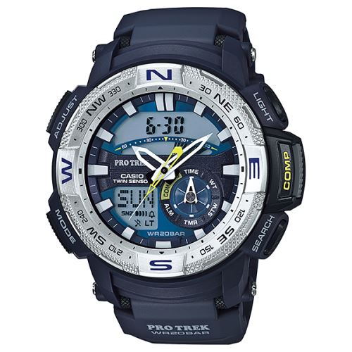 Casio PRO TREK Twin Sensor Montre PRG 280 2 Bleu Montre