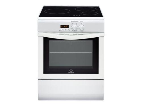 Indesit I63IMP6A(W)/FR - Cuisinière - pose libre - largeur : 60 cm - profondeur : 60 cm - hauteur : 85 cm - avec système auto-nettoyant - classe A - blanc