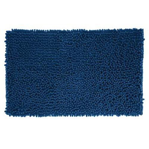 Tapis de Salle De Bain Maxi Chenille 50x80cm Bleu