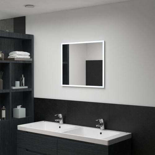 Miroir mural à LED pour salle de bains 60 x 50 cm