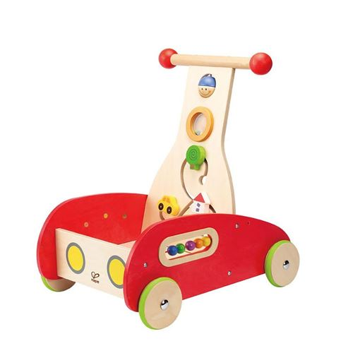 Chariot de marche et jeux en bois Hape