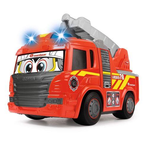 Dickie 203814016 - Happy Fire Truck Voiture de Pompier motorisée avec lumière et Son