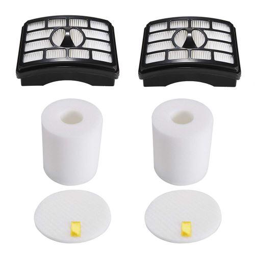 2 Filtres Hepa + 2 Mousse Flet Kits de Filtration pour Shark Rotator Pro Nv500 Lift-Away Xcq401