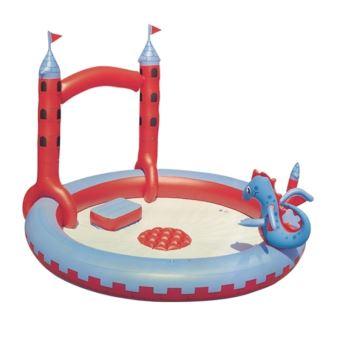 Jet D Eau Piscine Hors Sol piscine enfant château fort, jet d'eau interactif, multicolore