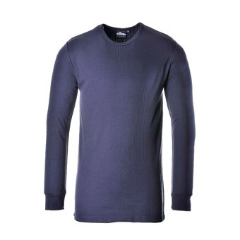 Royaume-Uni taille 7 qualité et quantité assurées Portwest B123 - T-shirt thermique à manches longues - Homme (M) (Bleu  marine) - UTRW1016