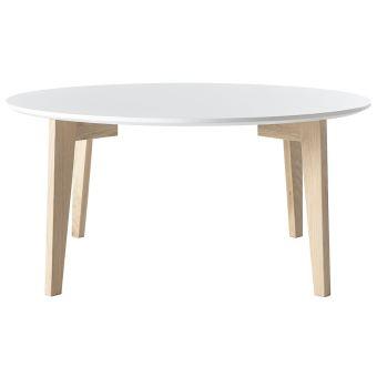 13 Sur Table Basse Design Laquée Blanc Mat Et Bois Naturel Largo