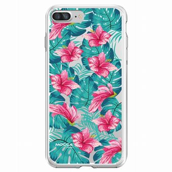 Coque Iphone 7 plus 8 plus bump Fleurs tropical