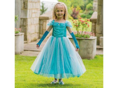 Travis - Costume Turquoise Sparkle Princess turquoise - 6 à 8 ans