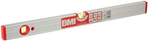 BMI 691060M Alustar Alu-niveau à bulle, Argent/rouge, 60 cm
