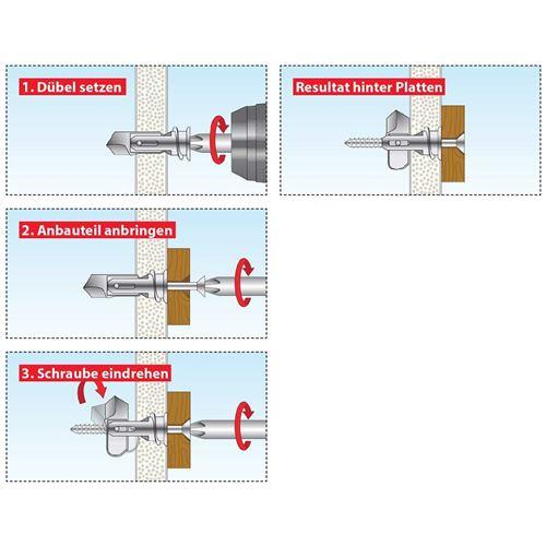 068101051 Spiral Pro 39-5 TOX cheville pour plaques de pl/âtre 25 pi/èces vis