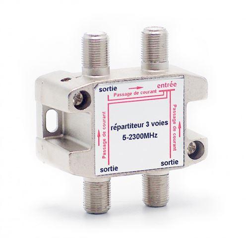 Répartiteur d'antenne TV METRONIC 436303 blindé 3 sorties à connectique F