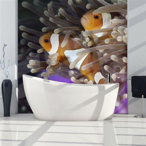 Paris Prix - Papier Peint poissons Clowns 154 X 200 Cm