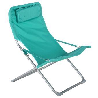fauteuil relax de jardin coloris meraude dim l 73 x l 64 x h 83 cm pegane mobilier de jardin achat prix fnac - Relax De Jardin