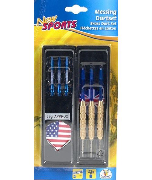 New sports turnier-metall-dartpfeile 3 stück,2fach sortiert, 22 g