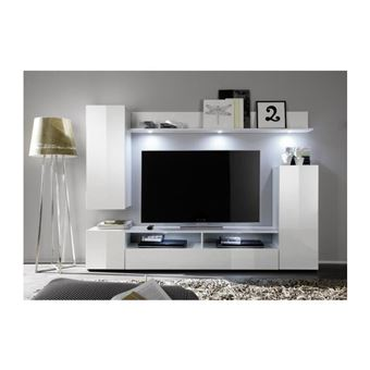 Banco Banc TV 110 cm Blanc Haute Brillance AUCUNE