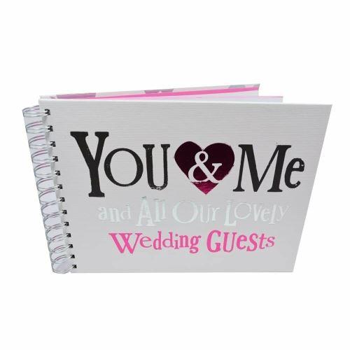 Livre d'invités de mariage côté brillant