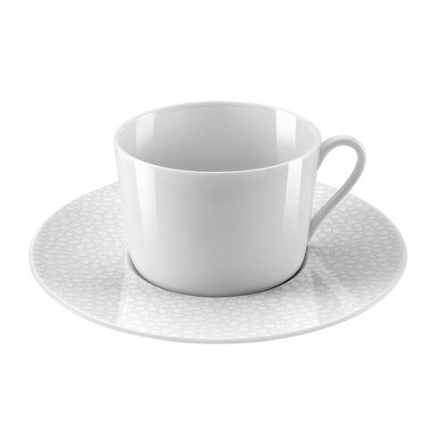 MÉDARD DE NOBLAT - BAGHERA BLANC - Coffret 6 tasses et soucoupes thé