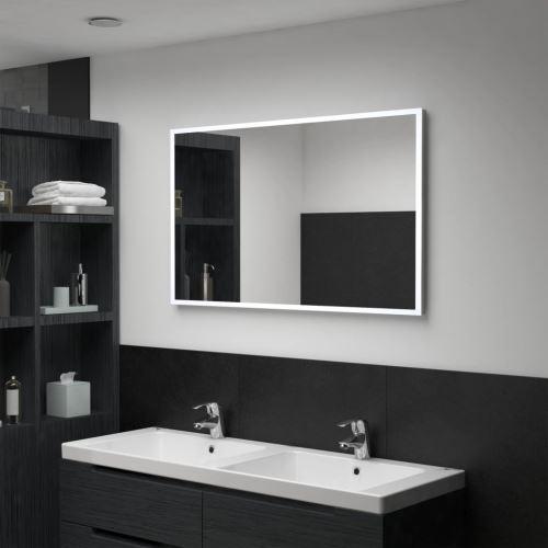 Miroir mural à LED pour salle de bains 100 x 60 cm