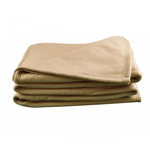 Couverture Polaire Taupe Polex 100% polyester 350g 180x220