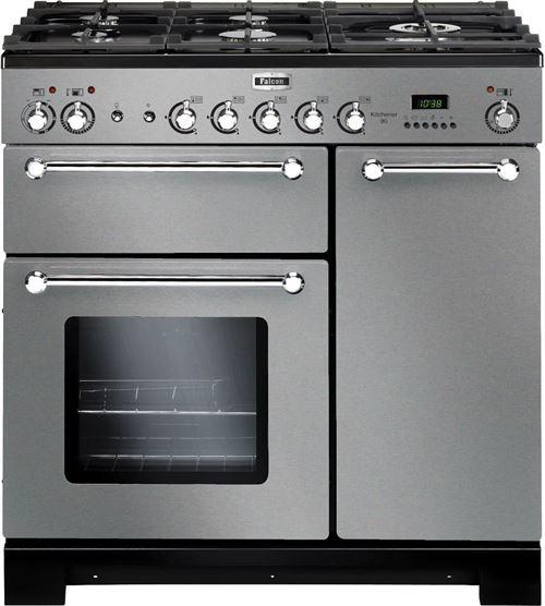Falcon Kitchener 90 DF - cuisinière - pose libre - 90 cm - inox