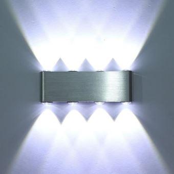 Applique Couloir Interieur Decoratif 8 En Lumiere Pour Maison Lampe Led Ampoule Murale Alu 6g7yYfb