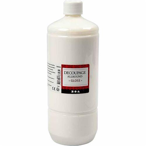 Creotime vernis de découpage à la colle brillant 1000 ml