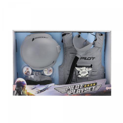Toi-Toys kit robe de pilote de chasse gris 4-pièces 122/128