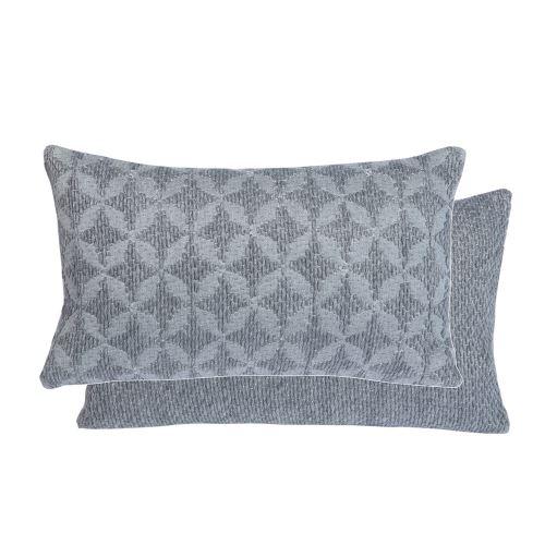 Coussin Elis gris 30 x 50 cm T&B Maison