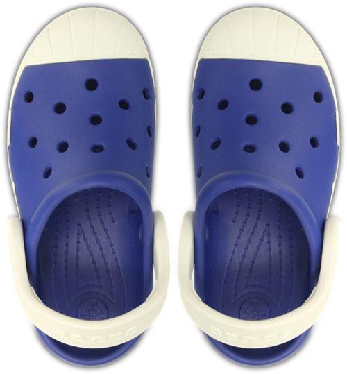 Crocs bump it clog kids sabots <strong>chaussures</strong> sandales en cerulean bleu oyster blanc 202282 4be
