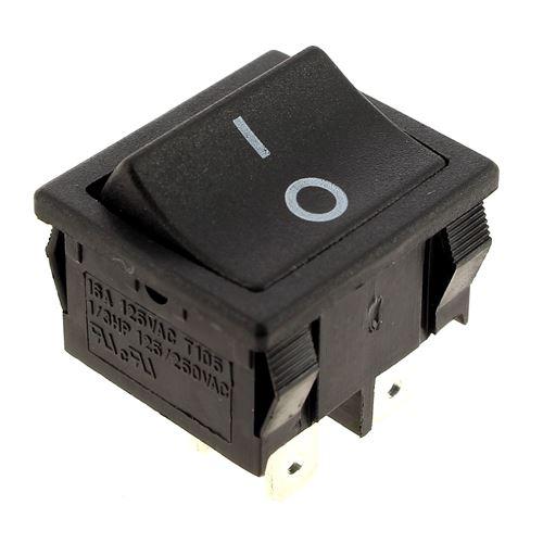 Interrupteur 4 cosses noir pour Aspirateur Aquavac