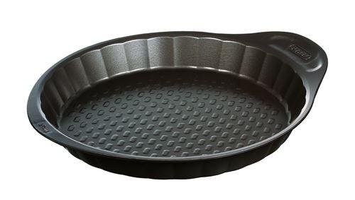 Moule à tarte 27 cm en métal avec prise en main facile, PYREX asimetriA
