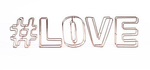 Dresz décoration fil lettres 3D #love